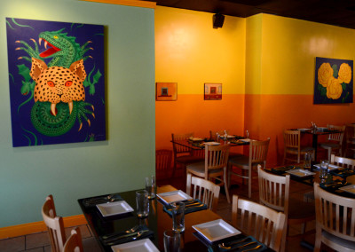 The dining room at Ixcateco Grill